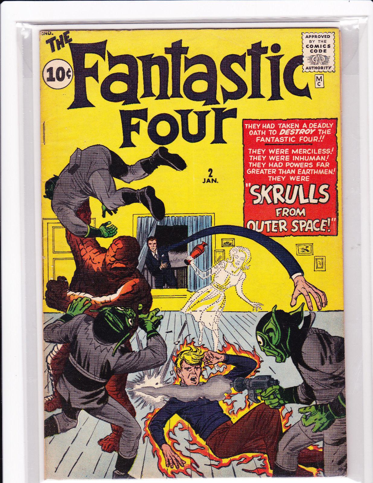 FANTASTIC FOUR #2 first skrulls app  1962 FN /VF KIRBY