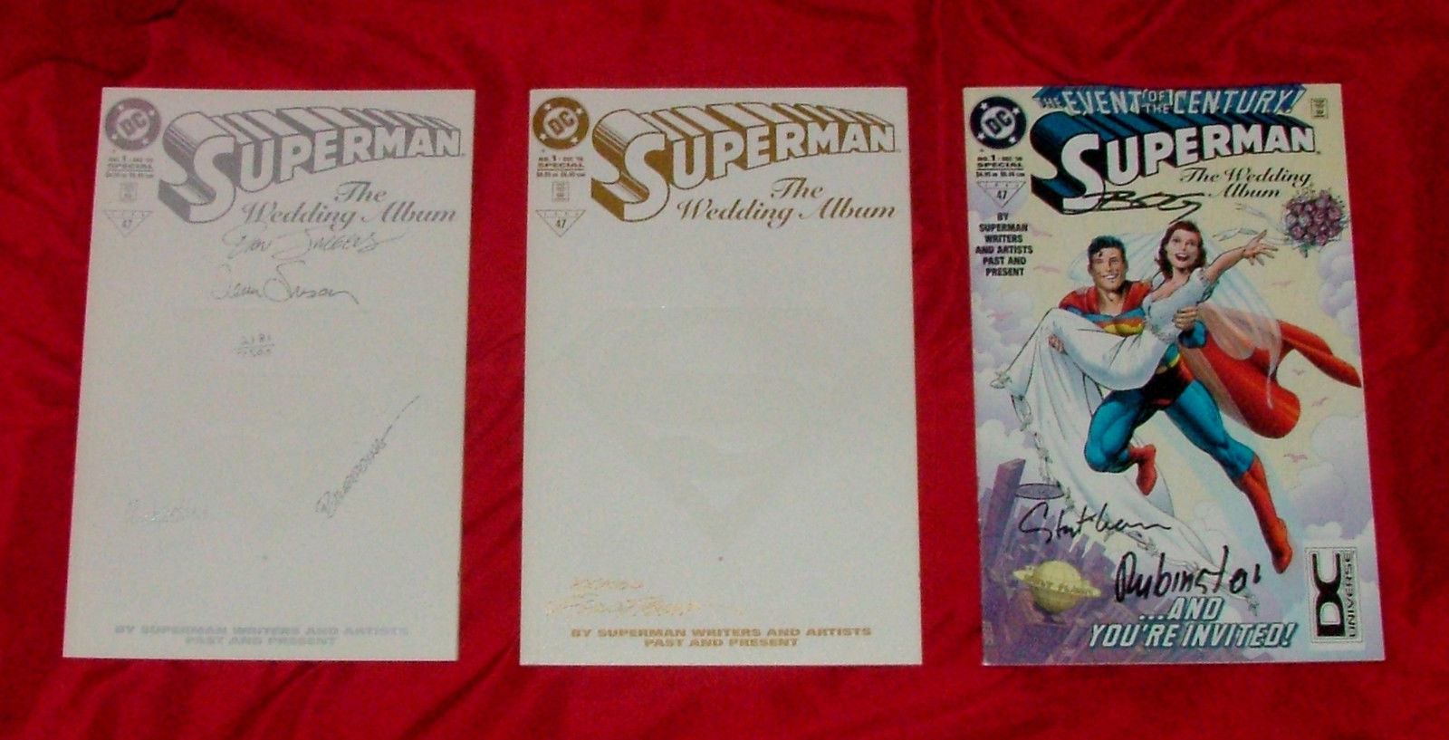 SUPERMAN THE WEDDING ALBUM #1 RRP ALL 3 signed  Many Signatures