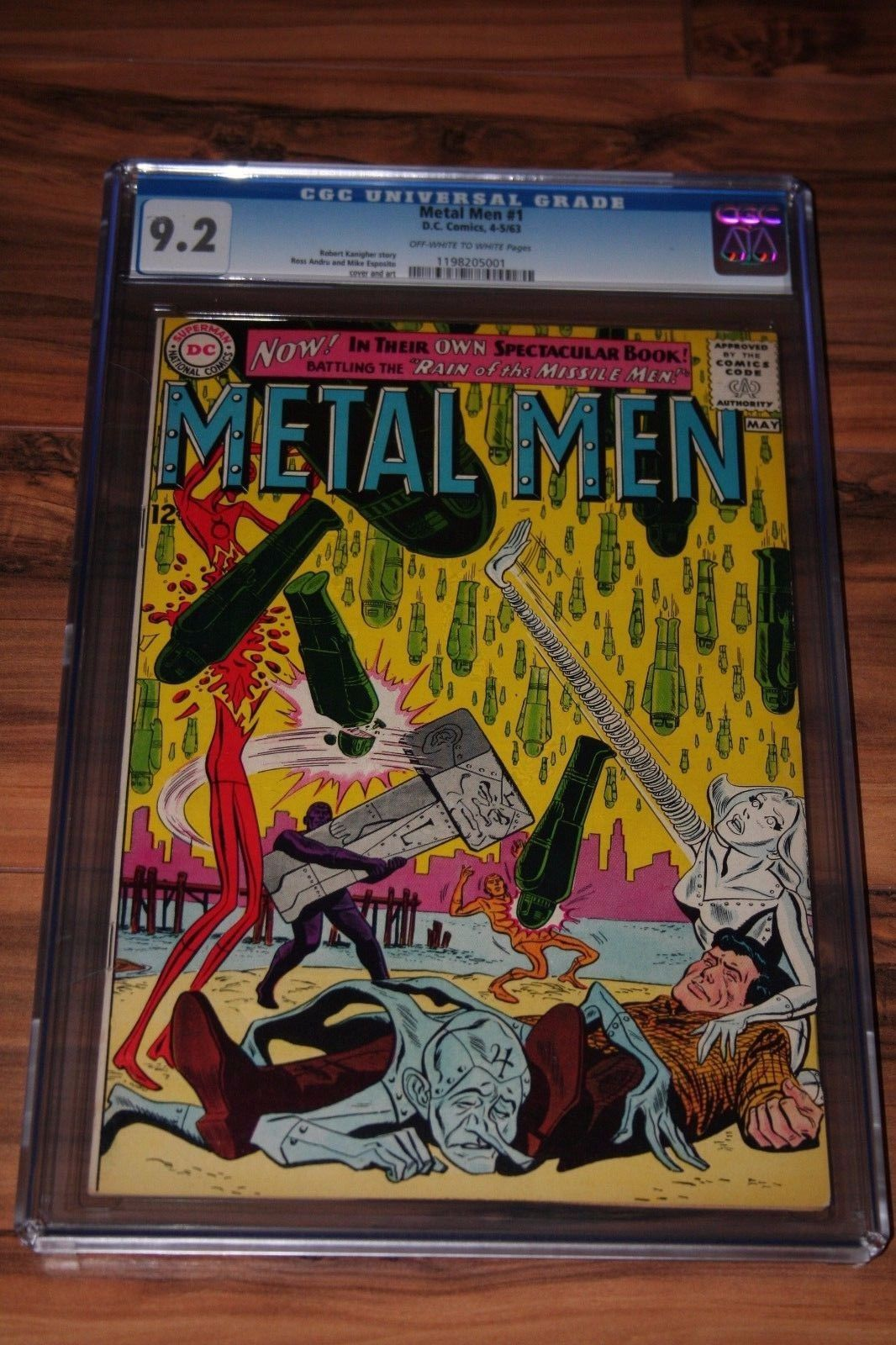 METAL MEN #1 CGC 9.2 RARE FIRST SOLO BOOK