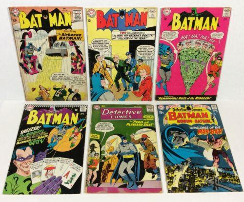 Batman #120,157,171,179, Detective #264,400 Lot (1st S.A. Riddler 6-issues) DC