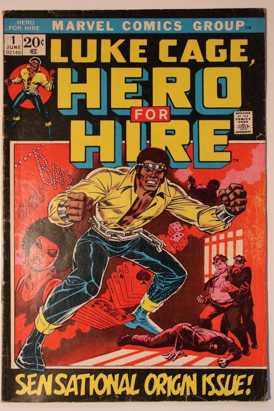 Luke Cage Hero for Hire Vol. 1 Issue #1 1972 Marvel Comics Power Man John Romita
