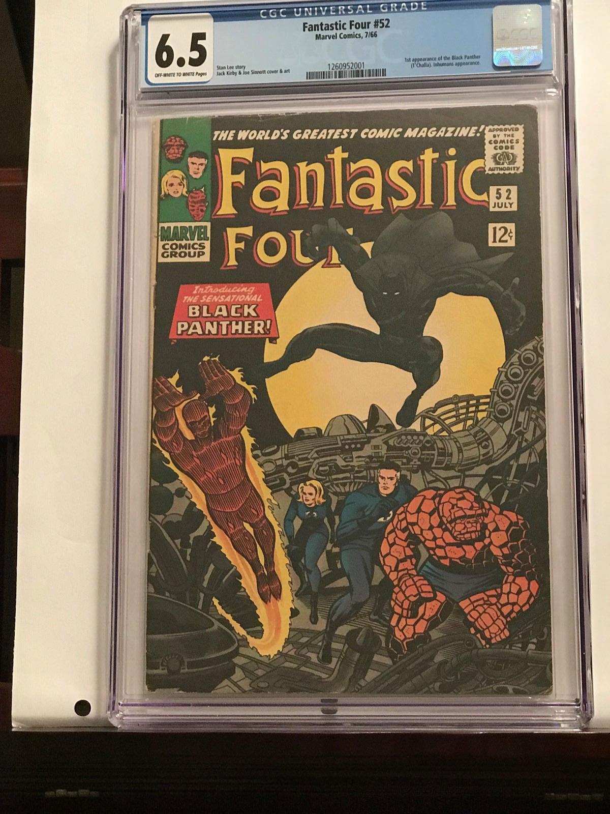 Fantastic Four #52 (Jul 1966, Marvel) First BLACK PANTHER  CGC GRADE 6.5