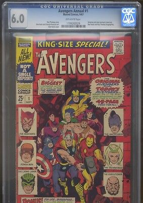 Avengers Annual #1 - CGC 6.0 - Original Avengers and the new Avengers team-up
