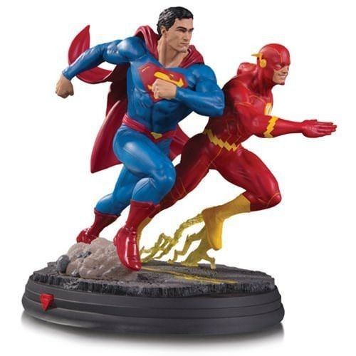 In Stock DC Collectibles Gallery Superman vs. The Flash Racing Statue