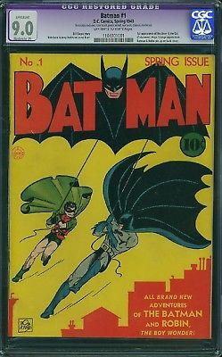 BATMAN #1 cgc 9.0 1940