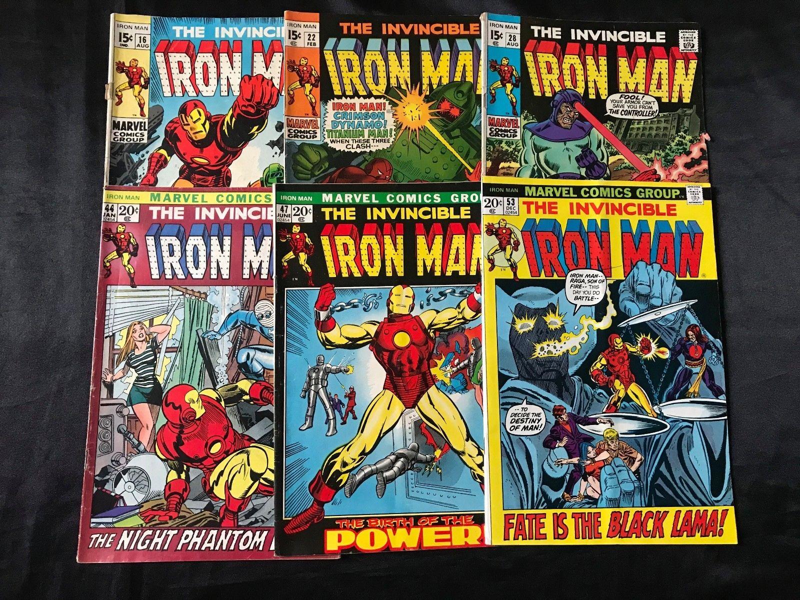 LOT OF 6 THE INVINCIBLE IRON MAN COMIC BOOKS #16 #22 #28 #44 #47 #53