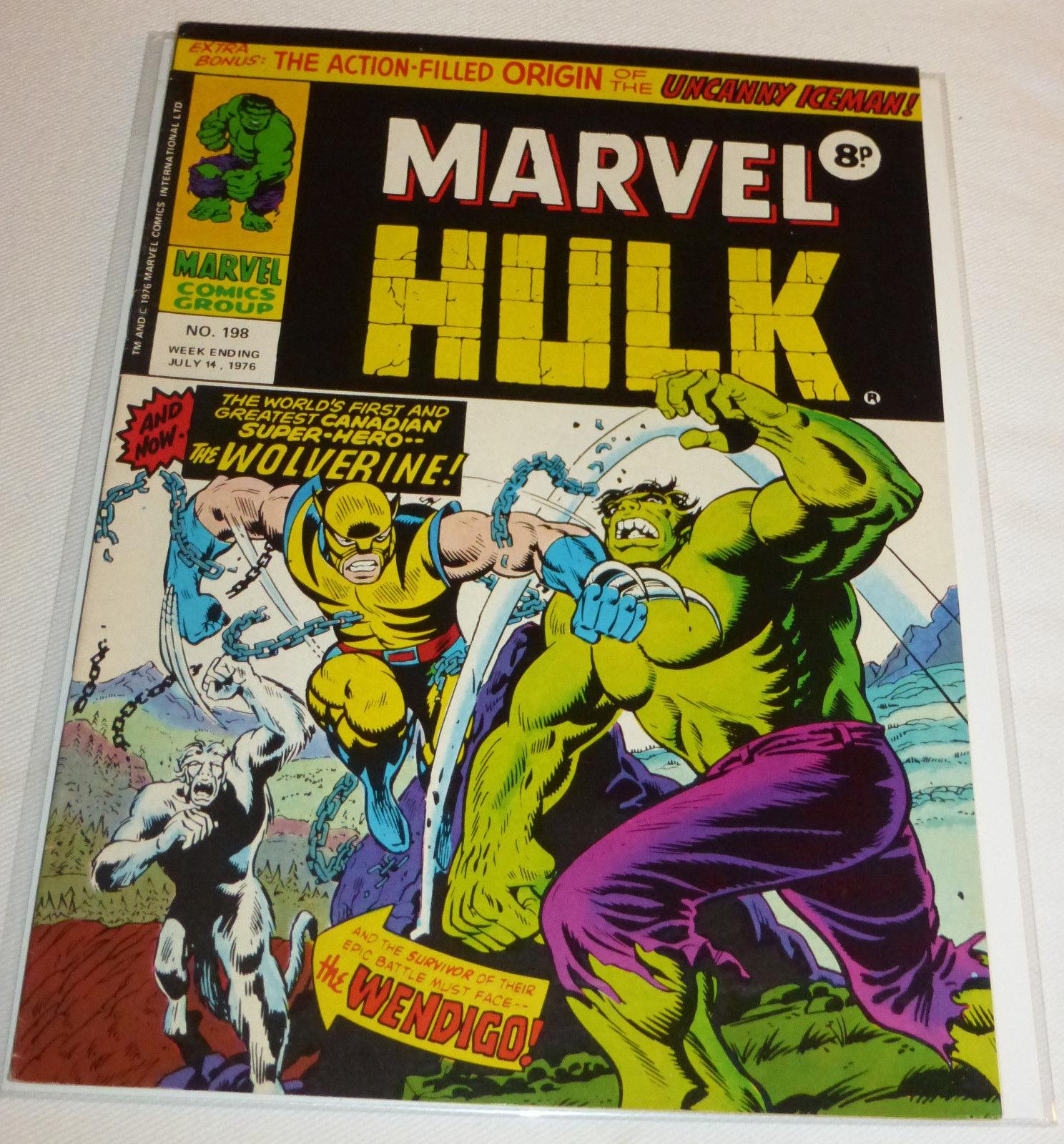 Mighty World of Marvel #197 & 198, UK Incredible Hulk 180 & 181 set