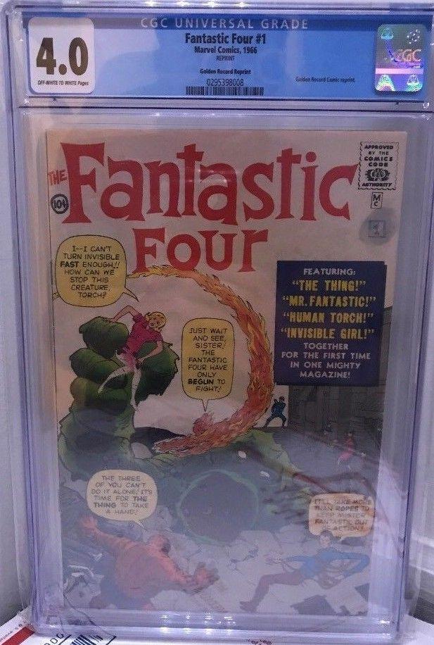 FANTASTIC FOUR #1 GOLDEN RECORDS REPRINT CGC 4.0 1966