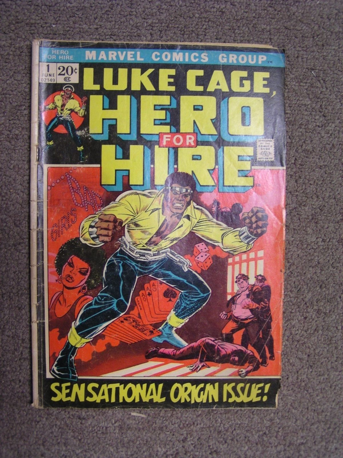 1972 Marvel Comic Book Luke Cage Hero for Hire  # 1 Issue G-VG