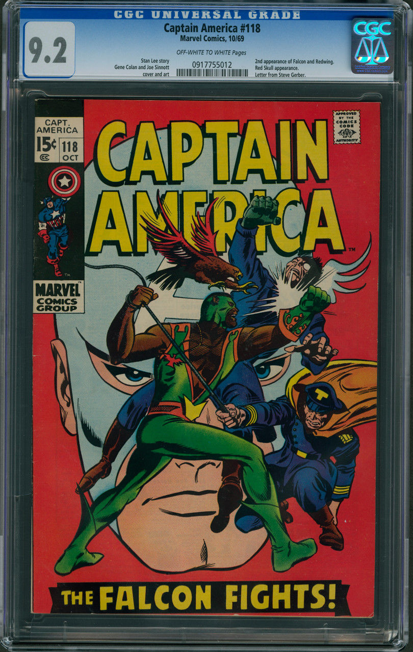 Captain America #118 CGC 9.2 - Off-White to White Pages (2nd App. of Falcon)