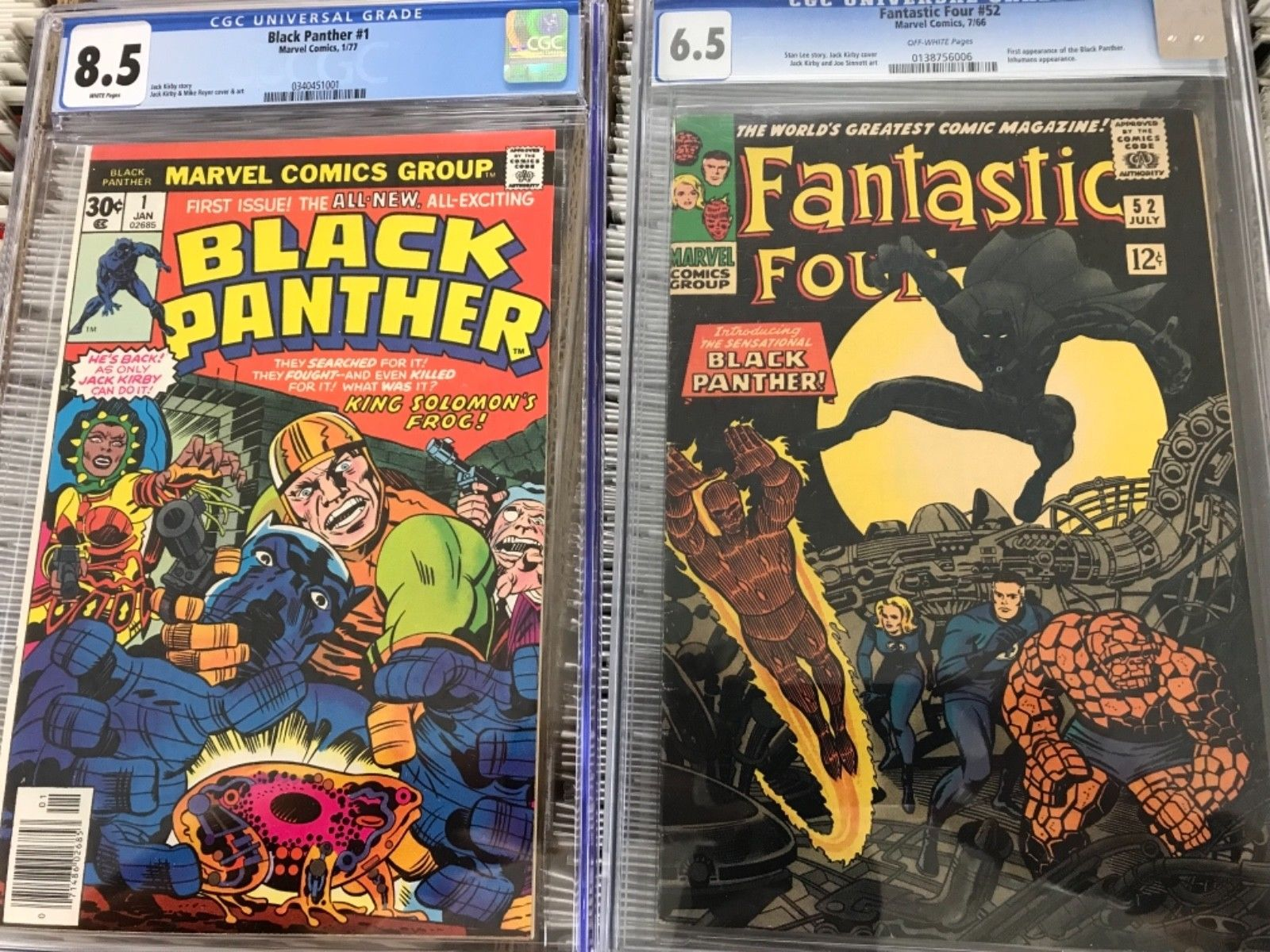 Fantastic Four #52 CGC 6.5 And Black Panther #1 CGC 8.5