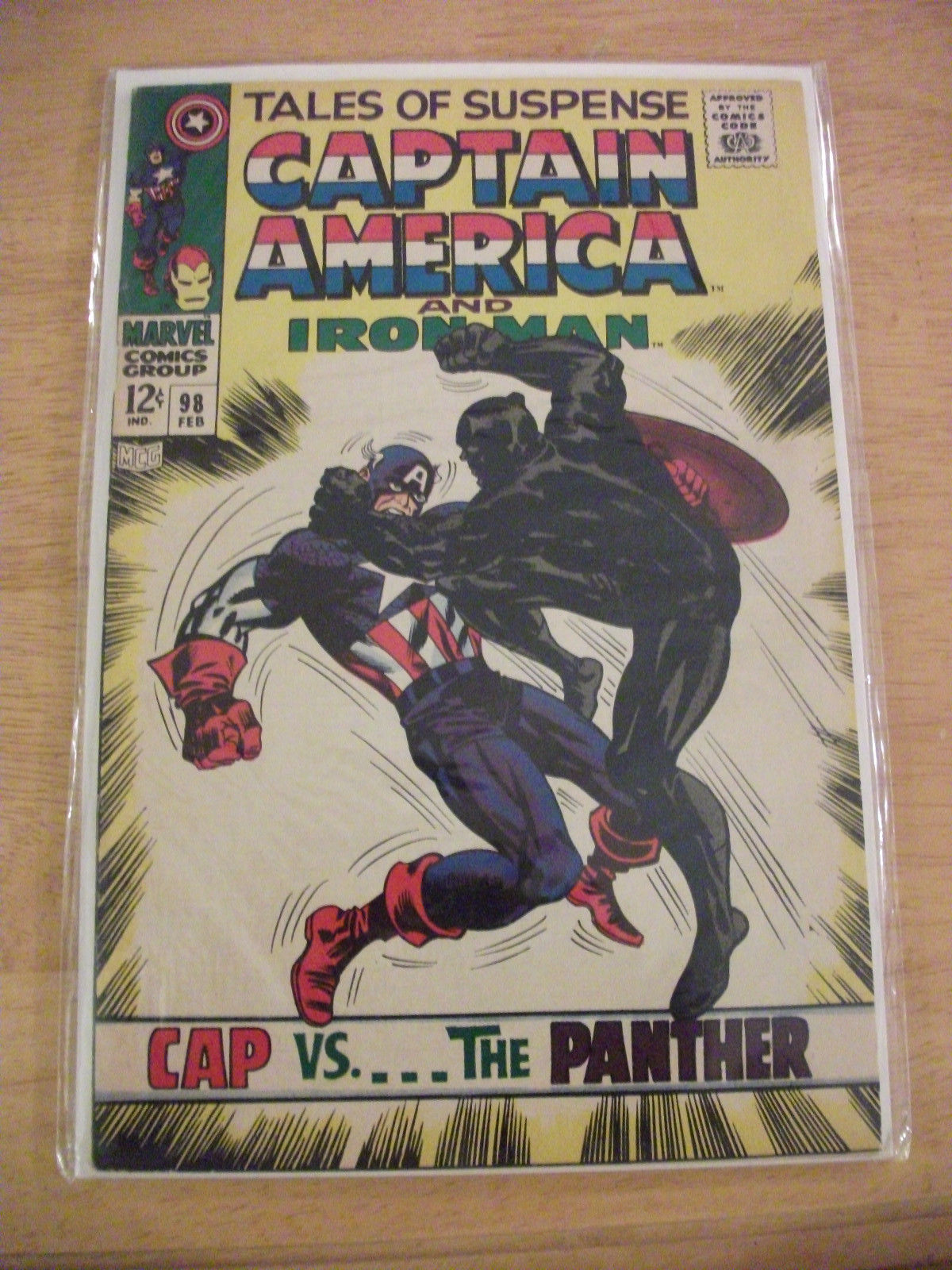 Marvel Comics Tales of Suspense #98 (NM 1968) - Captain America/Black Panther