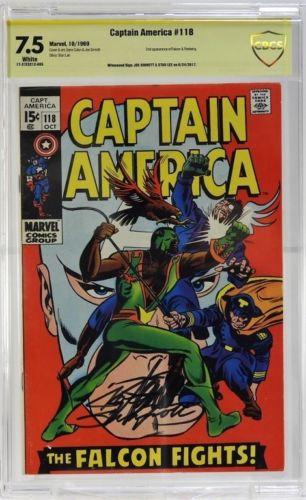 Marvel Comics Captain America No.118 CBCS Gold 7.5 Lot 229