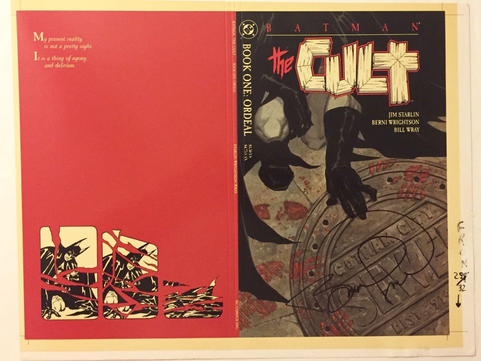 Bernie Wrightson BATMAN: THE CULT #1 cover DC Comics original art proof, SIGNED