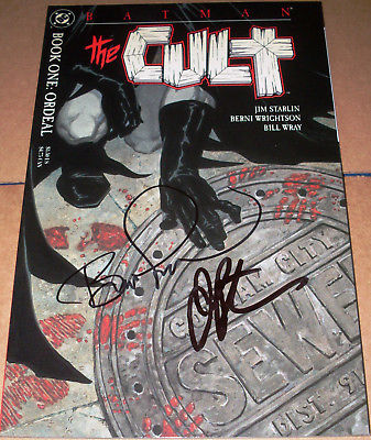 Batman The Cult #1 SIGNED Jim Starlin & Bernie Wrightson DC 1st print 1988