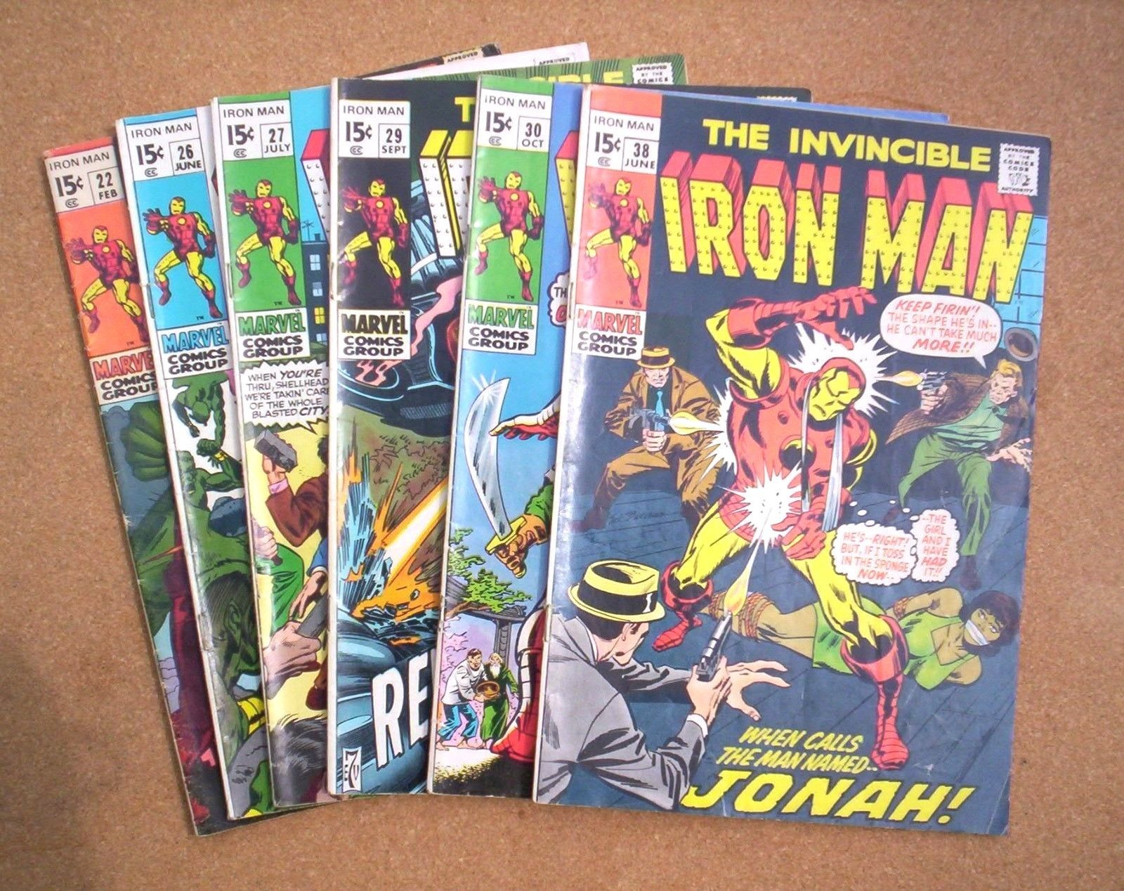 THE INVINCIBLE IRON MAN Comic Book Lot - #22,26,27,29,30,38 / Cry Revolution