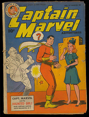 Captain Marvel Adventures #57 Golden Age Shazam Fawcett Comic 1946 GD+