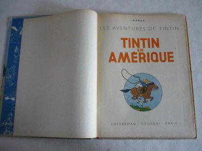 TINTIN EN AMERIQUE   E.O. COULEURS  B1 JUILLET 1946