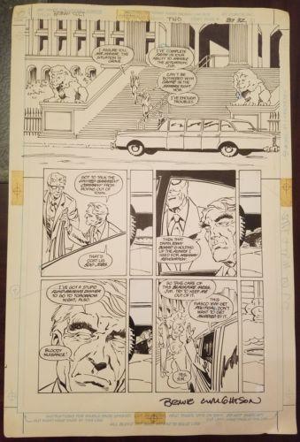 Original Art - Batman The Cult Book 2 p. 31 by Bernie Wrightson signed.