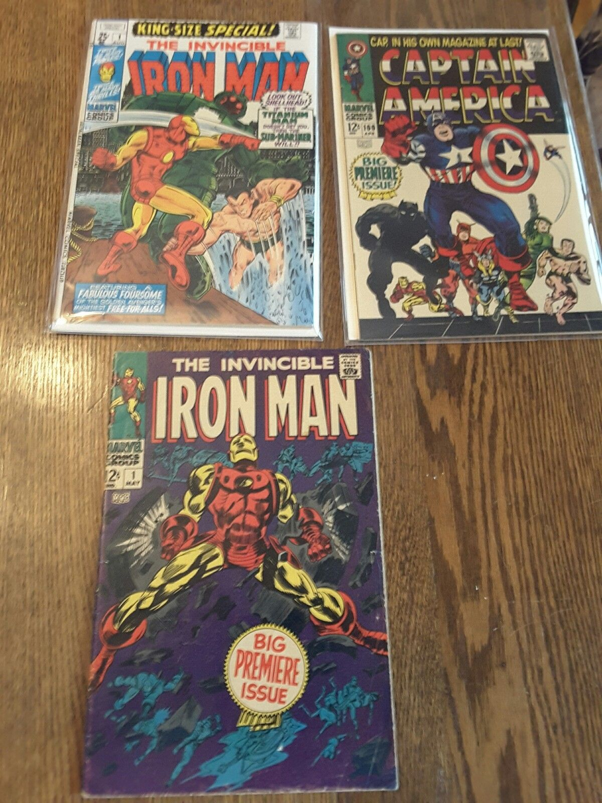 Iron Man 1, iron Man Ann 1 and Captain America 100: 3 silver age gems  Nice Lot