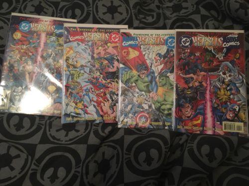 DC versus Marvel / Marvel versus DC #1-4 (Feb 1996, DC)
