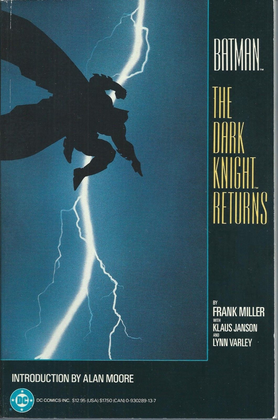**BATMAN: THE DARK KNIGHT RETURNS TPB GRAPHIC NOVEL**(1986, DC)**1ST PRINT**VF**