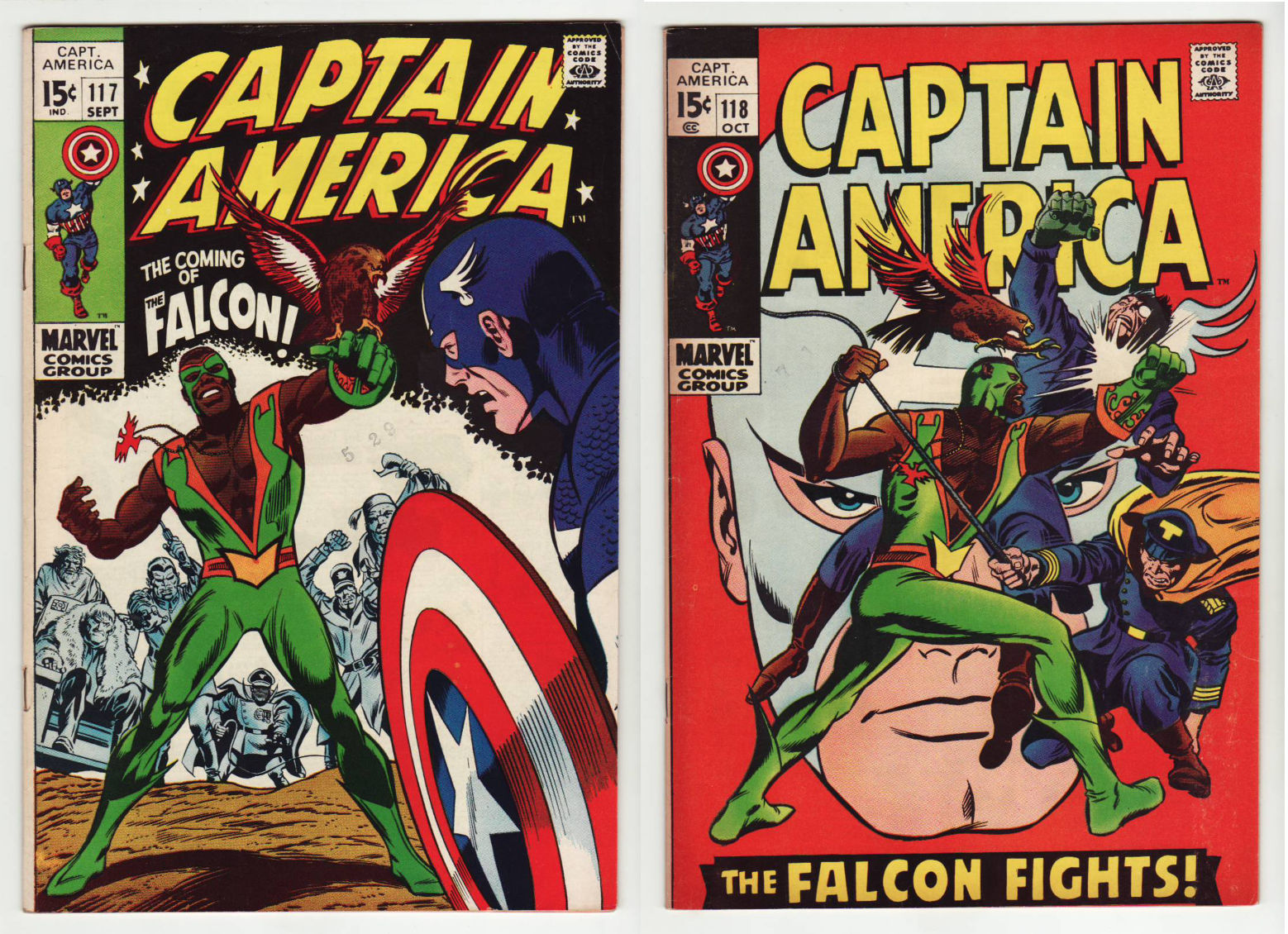 1969 CAPTAIN AMERICA 109 - 121 VF/NM : 117 & 118 1st & 2nd APPEARANCE of FALCON