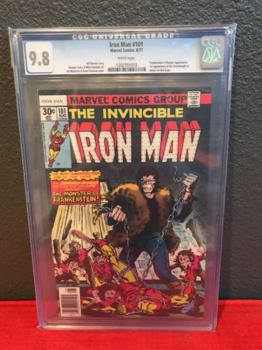 Iron Man 101 CGC 9.8 White Pages First Appearance Dreadknight Frankenstein Cover