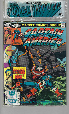 Marvel Whitman comics sealed 3 pack prepack Captain America Iron Man #137 Thor