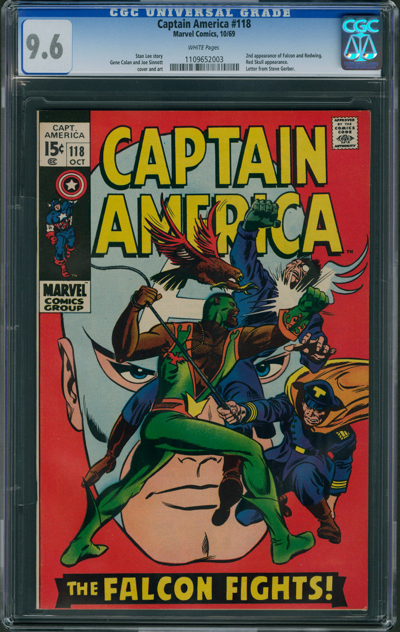 Captain America #118 CGC 9.6 - White Pages (2nd Appearance of FALCON)