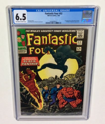 Fantastic Four #52 CGC 6.5 BIG KEY (1st Black Panther) Jul.1966 Marvel Comics