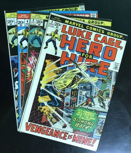 Luke Cage, Hero for Hire Lot of 4 Marvel Comics Volume 1 Issue #2-5 1972