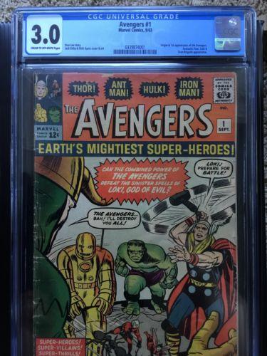 Avengers 1 CGC 3.0-1st App AVENGERS