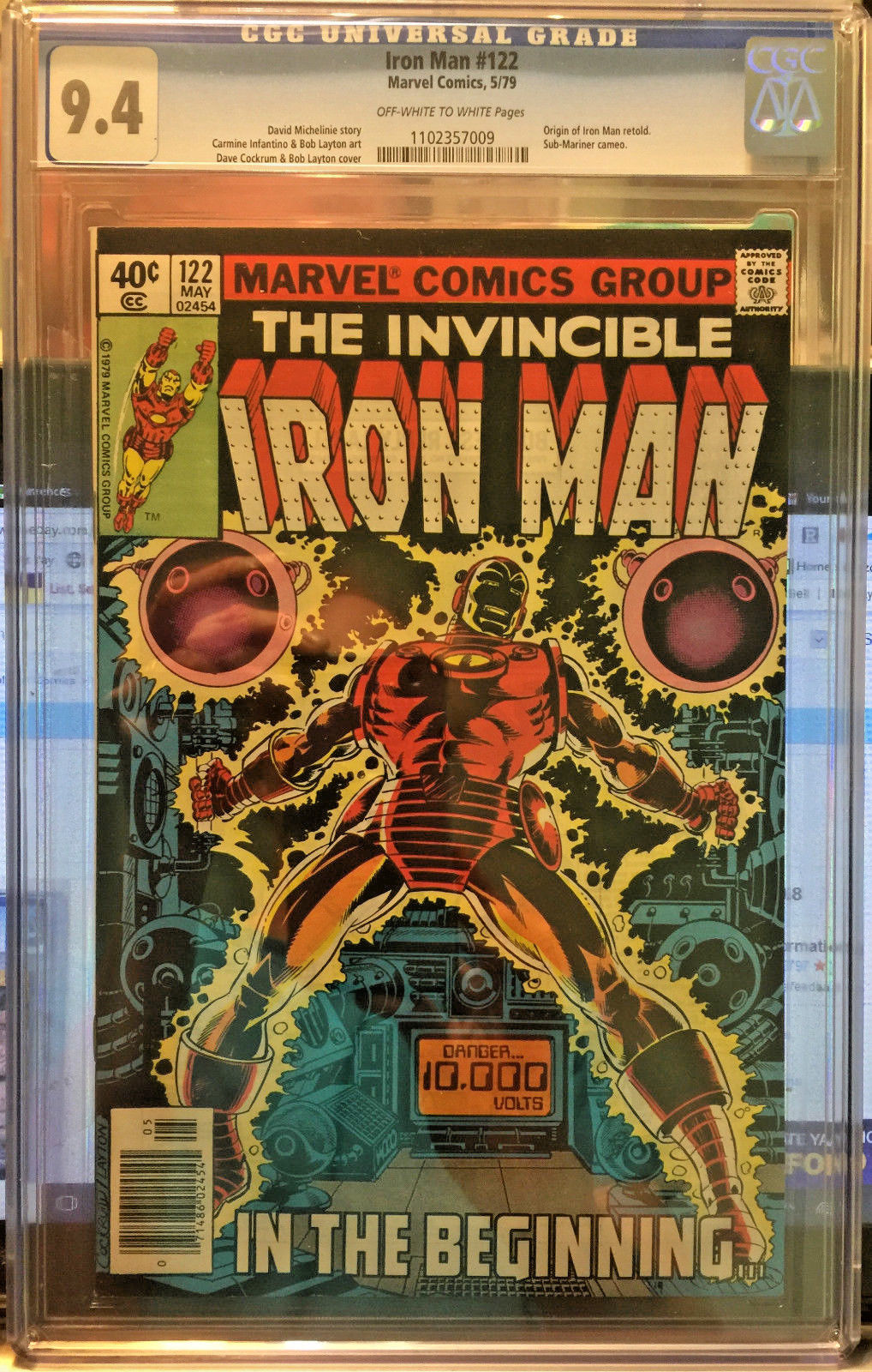 IRON MAN #122 BRONZE AGE MARVEL 1979 CGC 9.4 COCKRUM LAYTON COVER ORIGIN STORY