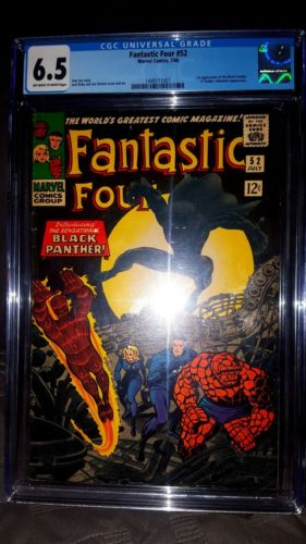 Fantastic Four #52 CGC 6.5 OW LOOKS NICER   *1st Appearance of The Black Panther