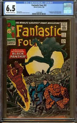Fantastic Four #52 CGC 6.5 OW/W - 1st Appearance of Black Panther (T'Challa)