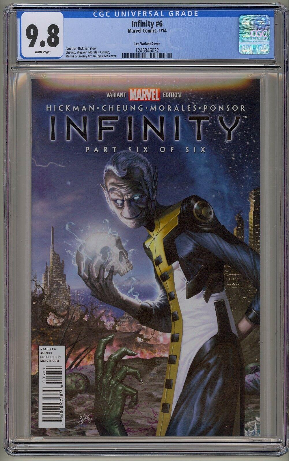 Infinity 1 2 3 4 5 6 CGC 9.8 Lee Variant War Black Order Avengers Thanos Endgame