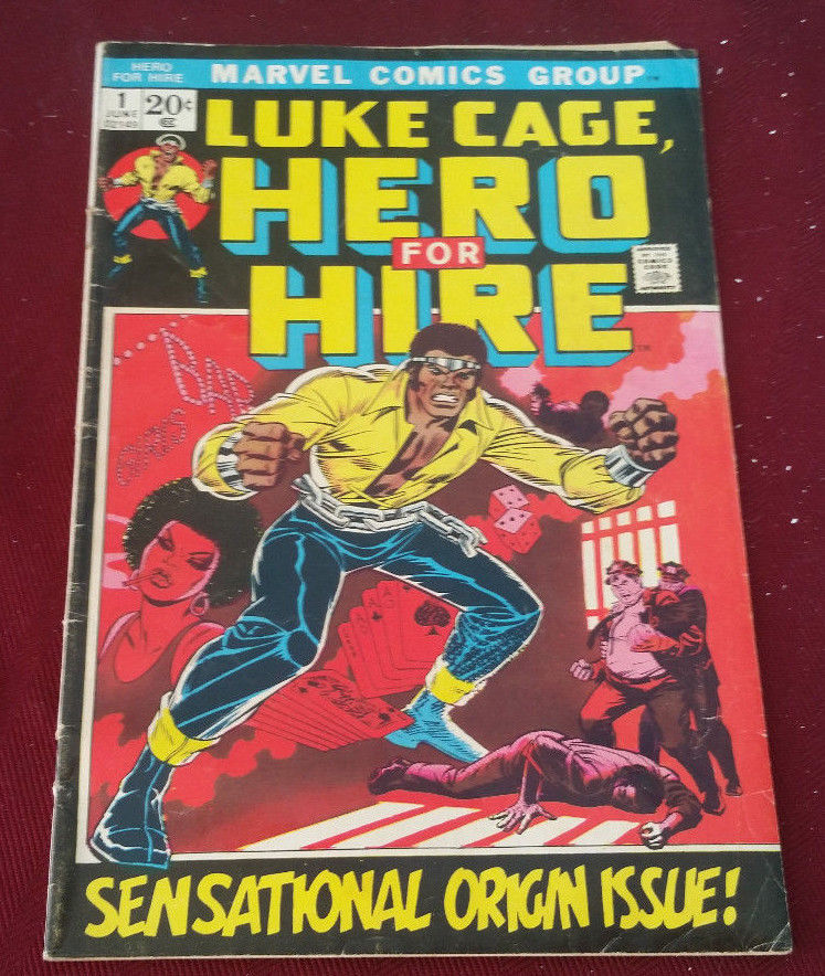 Luke Cage Hero For Hire No. 1 Marvel 1972 1st Appearance Origin Issue Good