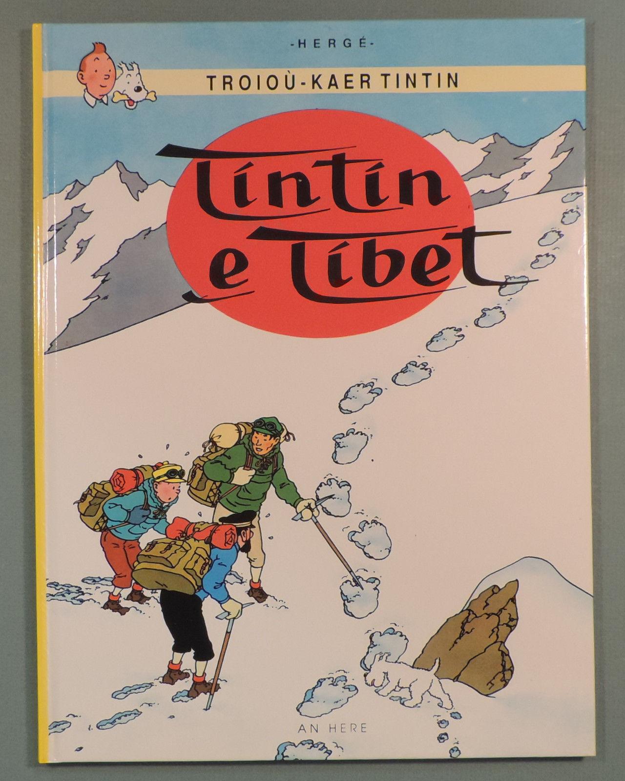 Tintin en Breton Tintin au Tibet Herge editions An Here