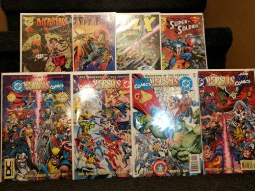 DC versus Marvel / Marvel versus DC 1-4, plus 4 Amalgam comics, DC Universe logo