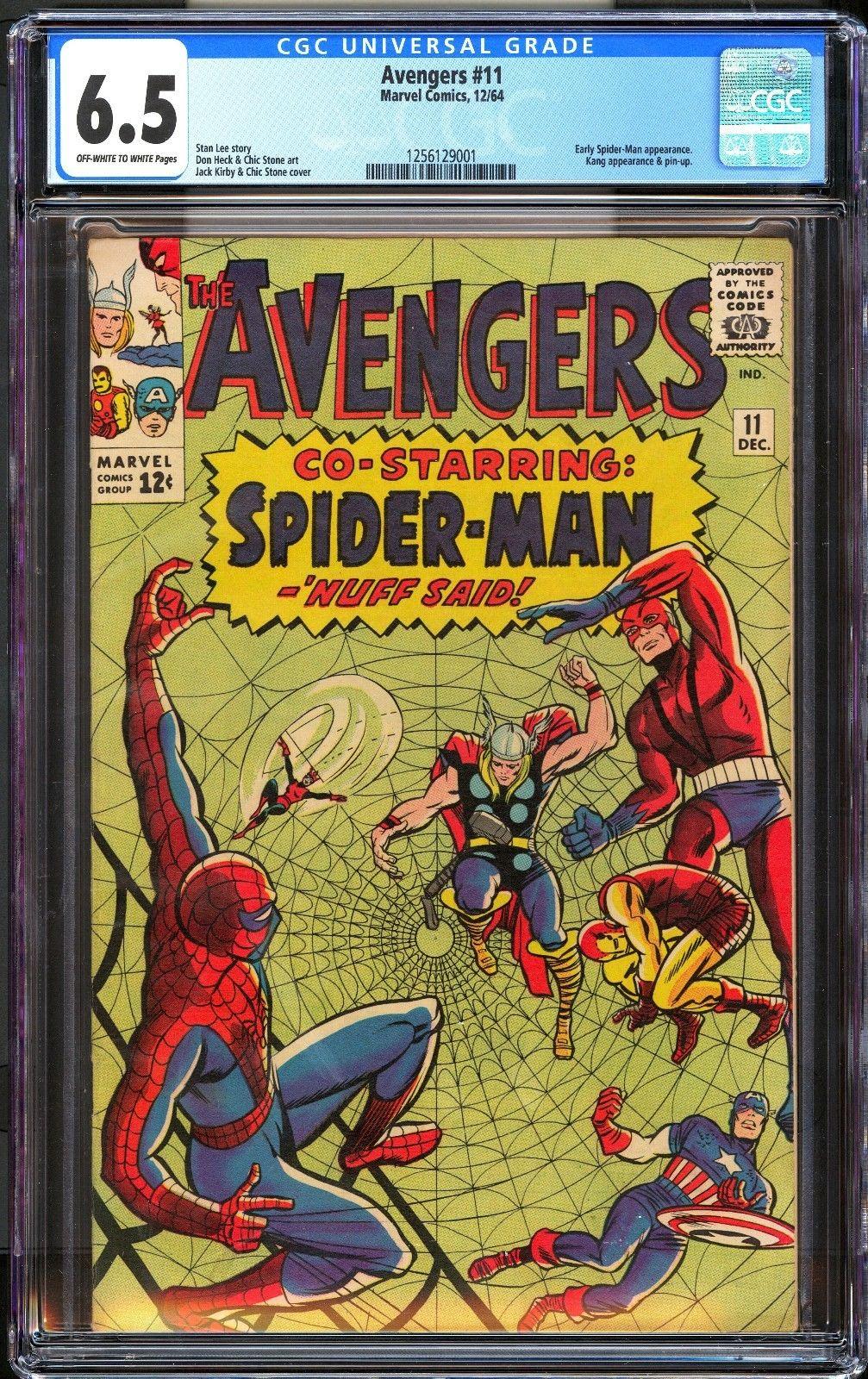 Avengers 11 / CGC 6.5 Universal Blue / Spider-Man /Hi Res Scans