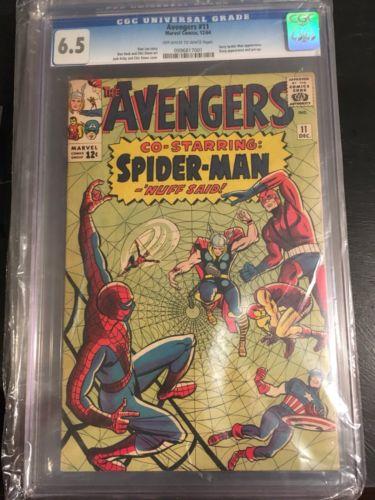 The Avengers #11 (Dec 1964, Marvel) CGC 6.5 Nice Collector Comic