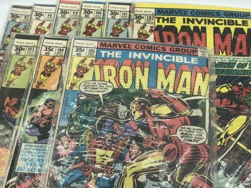 Invincible Iron Man 95 96 97 98 99 100 101 102 103 104 105 Marvel Comic Books