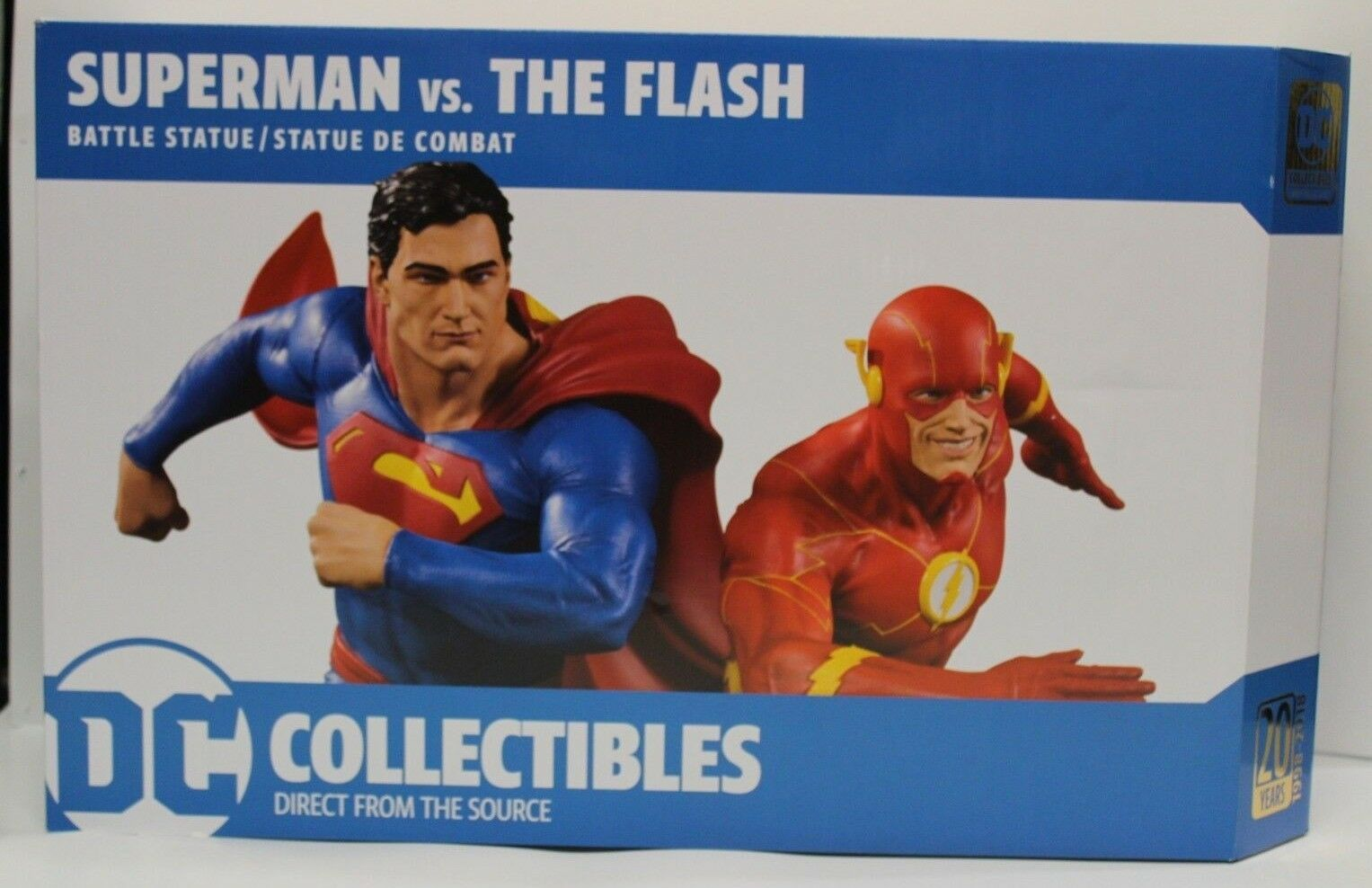 DC Gallery Superman vs the Flash Racing Battle Statue #1 of 5000 DC Collectibles