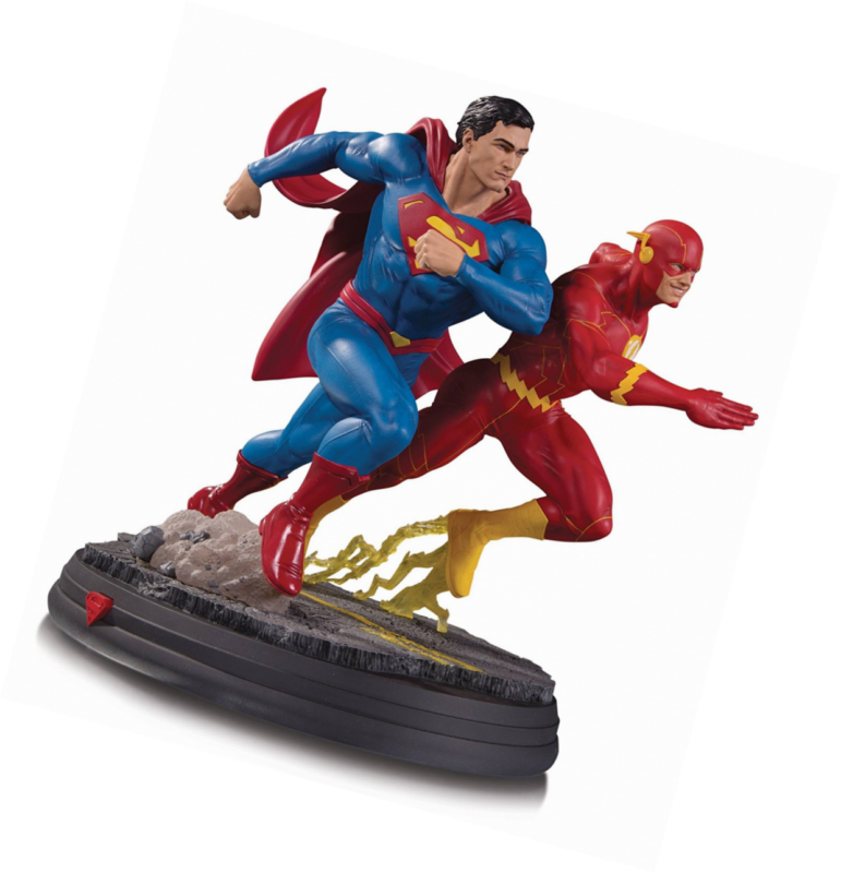 DC Collectibles DC Gallery: Superman Vs. the Flash Racing Resin Statue