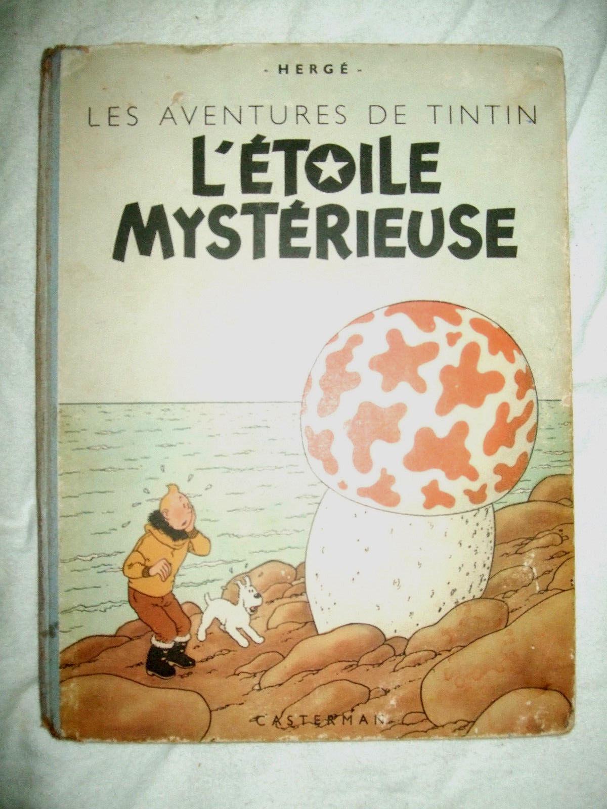Tintin L'étoile Mystérieuse B1 de 1946 Papier épais trés bon état +