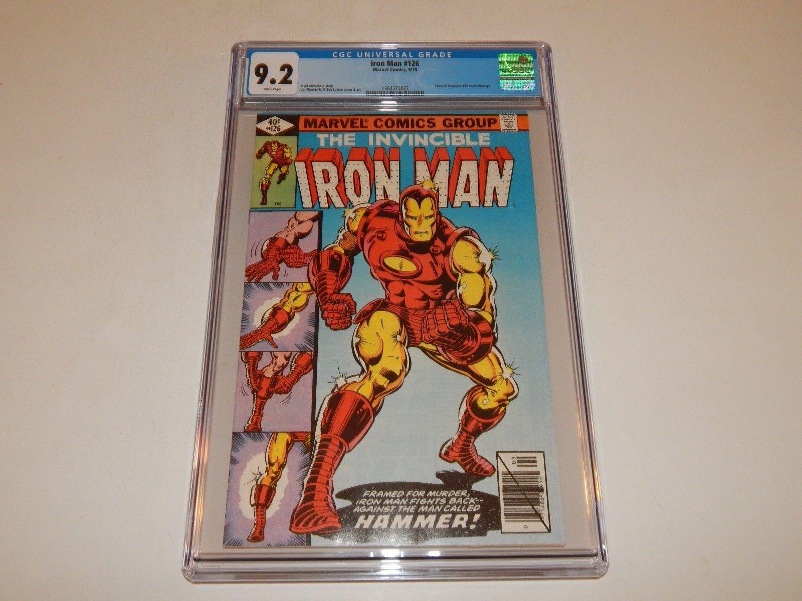 Iron Man #126  CGC 9.2..Classic Tony Stark Iron Man cover..Romita/Layton
