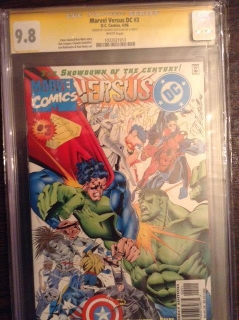 Marvel versus DC VS. CGC SS 9.8 Signature Series issue 3 Claudio Castellini RARE