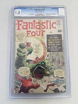 Fantastic Four #1, CGC, 1.8/Good-, 1st App & Origin of Fantastic Four