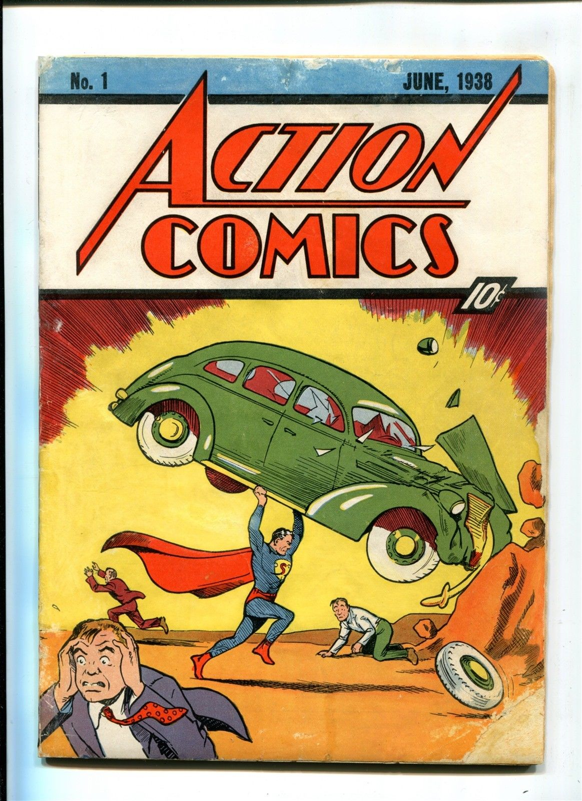 Action Comics #1 Original & Authentic 1938 10c DC Comic 1st Superman WHITE PAGES